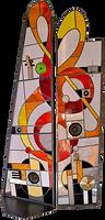sculptures vitrail