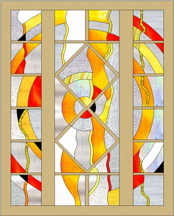 épure vitrail