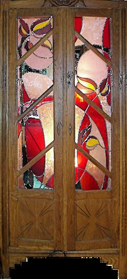 armoire vitraux
