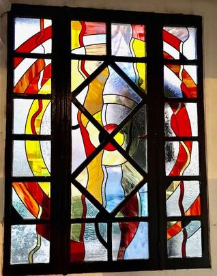 Réalisation d'un vitrail de 2m2 pour une fenêtre à Argenteuil