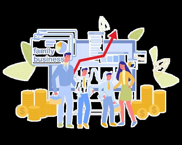 family-business-data-analysis-chart-info