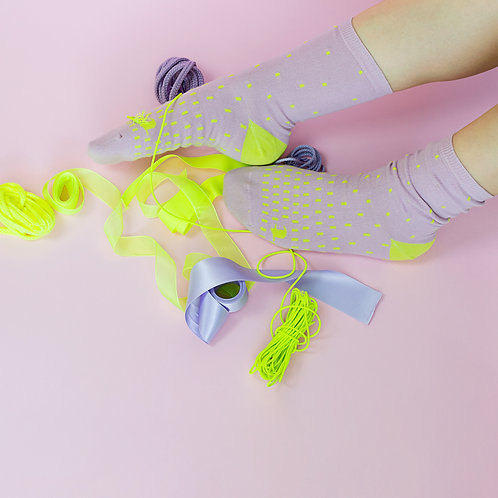 calcetines PÍXEL lila