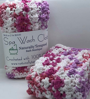 Spa Cloth -White Pink