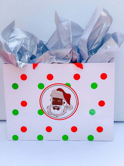 Our St. Nick Large Polka Dot Bags