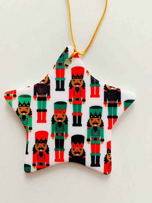 Nutcracker Star Shaped Ornament