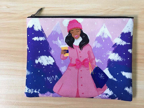 Baby Its Cold Outside Fabric Pouch