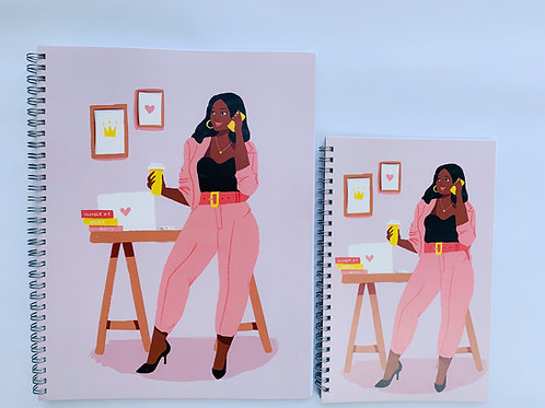 Large Curvy Girl Notebook