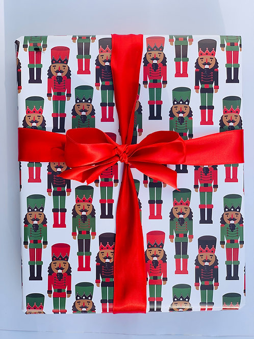 Black Nutcrackers Wrapping Paper