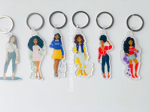 Sorority Girl Acrylic Keychains