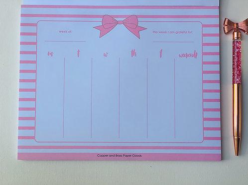 Bowdacious Weekly Planner Pad