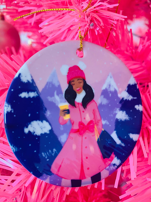 Baby Its Cold Outside Ceramic Ornament