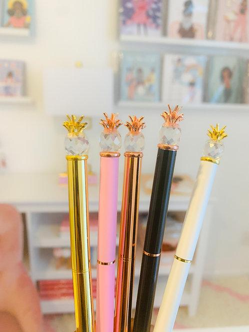 Pineapple Metal Pens