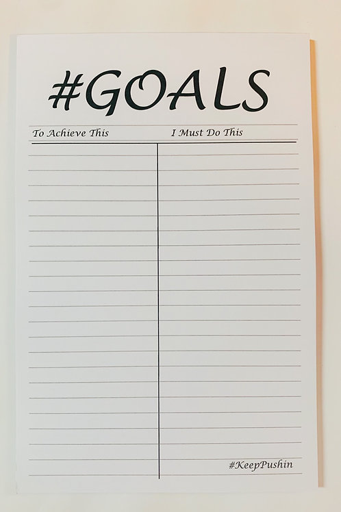 Goals Note Pad