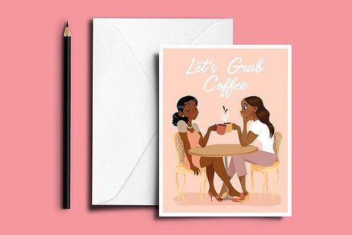 Let's Grab Coffee Notecards