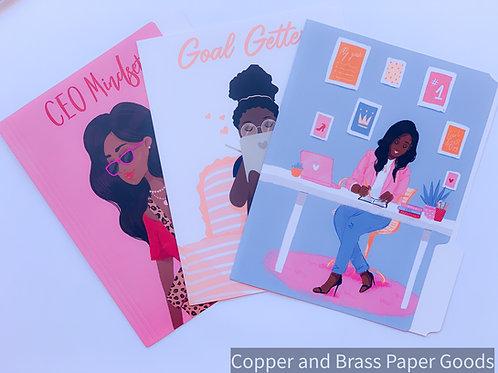 Business Women Folders Set