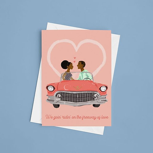 Freeway of Love Greeting Card
