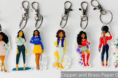 Sorority Girls Acrylic Keychains