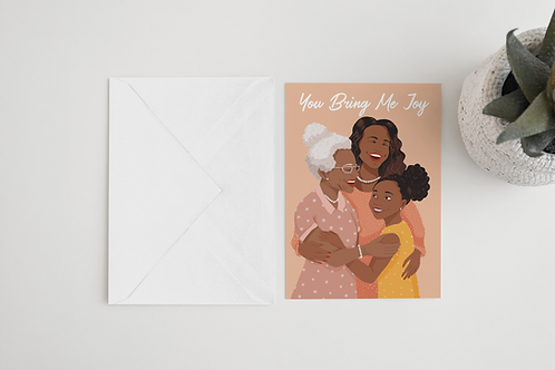 Generations Greeting Card