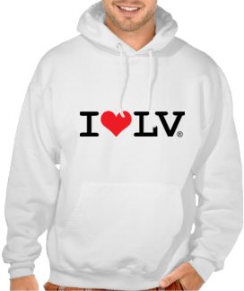 I Love LV® Classic White Hoodie