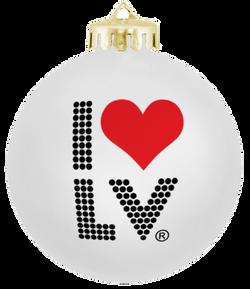 I Love LV® Lights Christmas Ornament