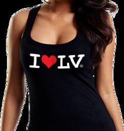 I Love LV® Classic Black Tank Top