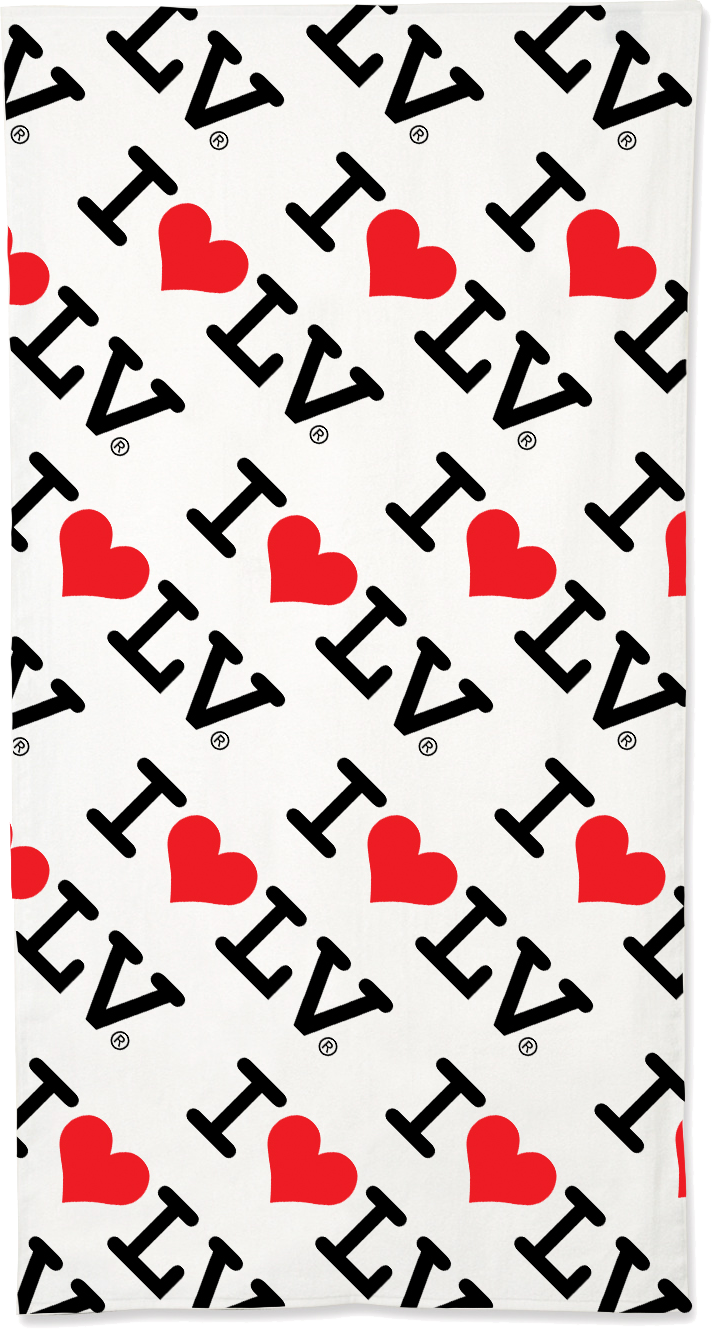 I Love LV® Classic Beach Towel