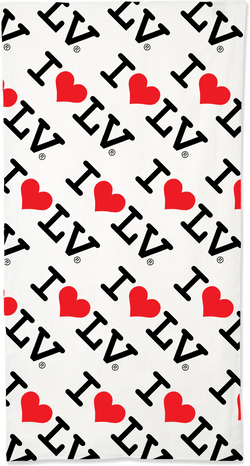 I Love LV® Classic Beach Towel