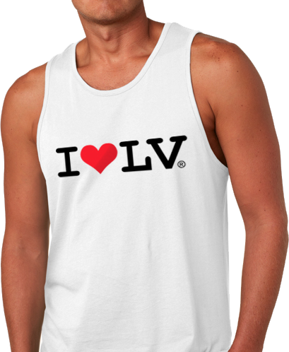 I Love LV® Classic Men's White Tank