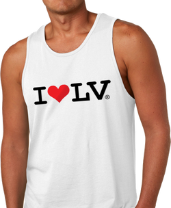 I Love LV® Classic Men's White Tank