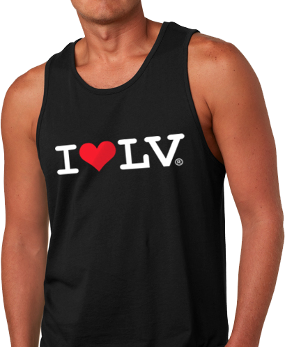 I Love LV® Classic Men's Black Tank