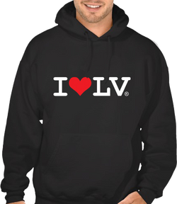 I Love LV® Classic Black Hoodie