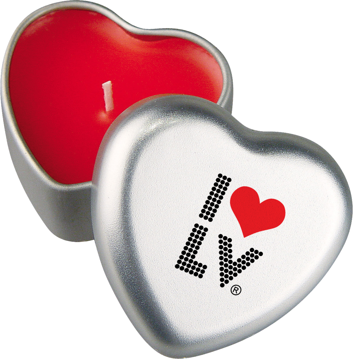 I Love LV® Lights Heart Candle