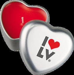 I Love LV® Lights Heart Candle