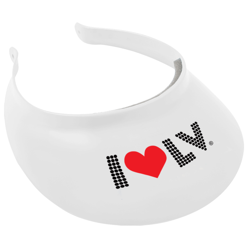 I Love LV® Lights White Visor