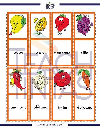 Fruits & Vegetables worksheet (spanish)