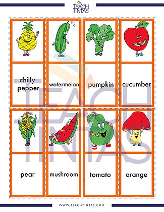 Fruits & Vegetables worksheet (english)