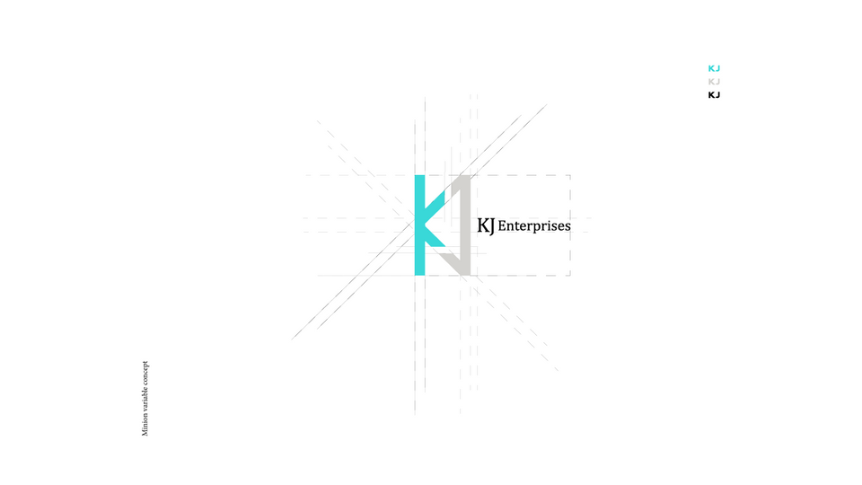 Identity design for KJ Enterprises