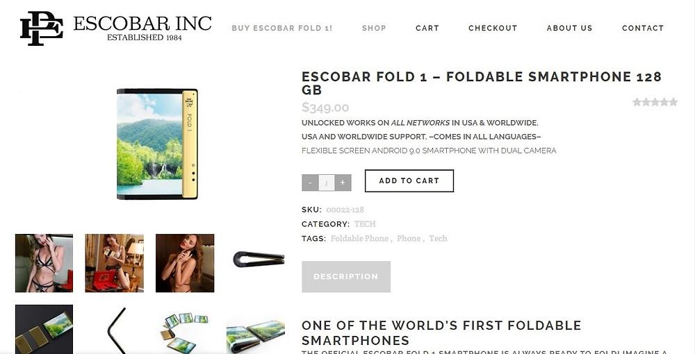 заказ телефона Escobar Fold 1