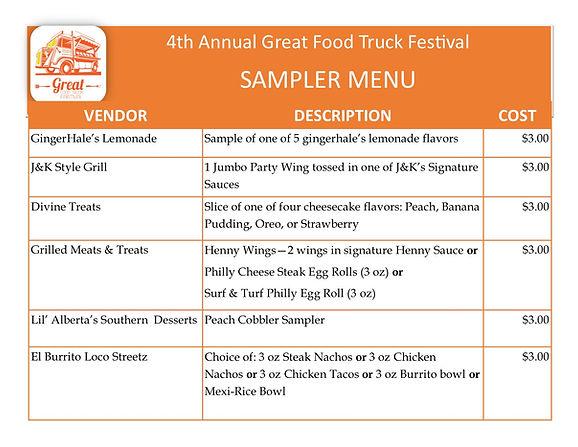 4th Annual Great Food Truck Festival Sampler Menu (2).jpg