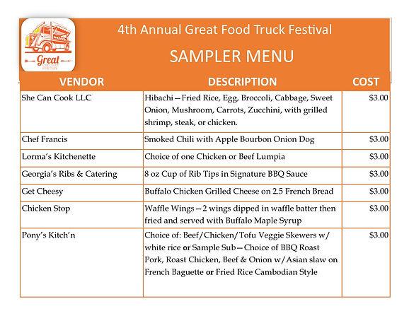 4th Annual Great Food Truck Festival Sampler Menu (1).jpg