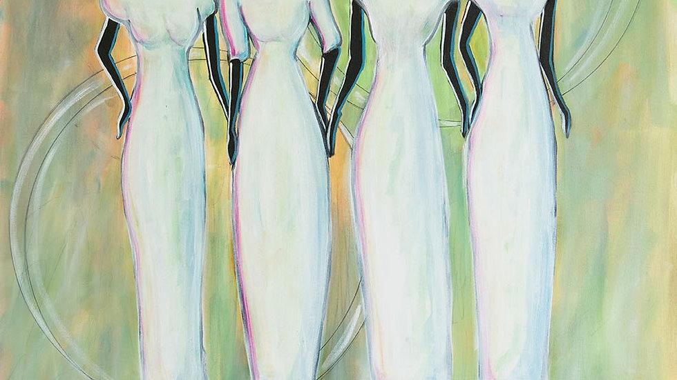 4 Women in White