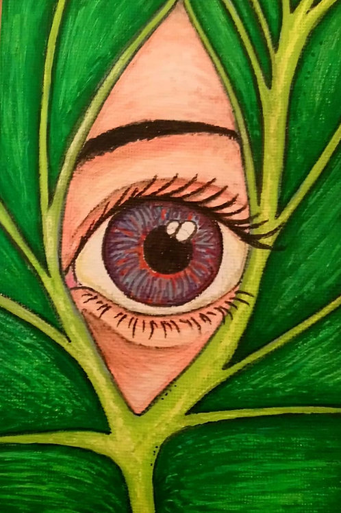 Eye Between the Leaves