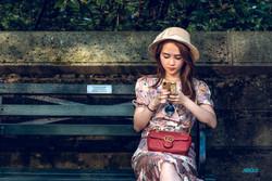 Asian girl, Central Park, New York
