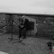 Marty O'Keefe playing at the graveside tribute to Willie Clancy.
