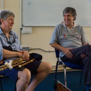 Pádraig Mac Mathúna and Paddy Glackin at a Dúchas and Cheoil workshop 2013.