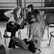 Students in Charlie Harris's accordion class 1992.