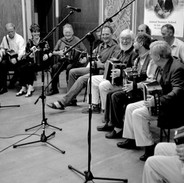 A full complement of musicians at the 2003 accordion recital.