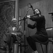 Aoife Granville playing in the tribute to Mick Hand (left) 2016.