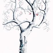 Hawthorn With Ivy 140 x 50 cm