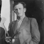 Bobby Casey, pictured in his 20s. He enjoyed a close friendship with Willie Clancy and they emigrated to London in 1952 together in search of employment during the post war boom there. Willie returned home a few years later but Bobby remained in the UK. He was a constant presence during successive Summer Schools until his death in 2000.